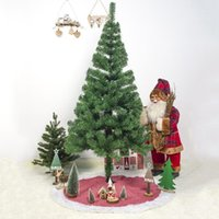 크리스마스 장식 큰 자연 삼 베 황 마피 손으로 수 놓은 나무 치마 48 인치 흰색 장식 소박한 크리스마스 holida 장식 1