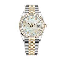 Caijiamin-U1 Fabrik Herren Automatische mechanische Uhr Diamantuhren 36mm Edelstahl Armbanduhren Super leuchtende Dame Frauen Uhren