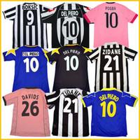 Retro Juve del Piero Soccer Jersey 84 85 92 95 96 97 98 99 02 03 11 12 15 16 Platini Zidane Inzaghi Rossi Vieri Davids Camisa de Fútbol