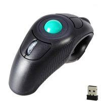 MICE 2.4G Souris d'air sans fil Ergonomic Trackball Finger USB Optique pour PC Laptop1