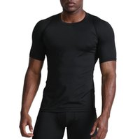 Men' s Gym T- shirt quick- drying sports running breathabl...