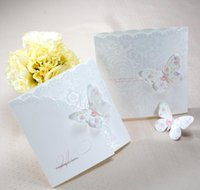 Andere Ereignis Festliche Partei Supplies Home Garten Drop Lieferung 2021 Großhandel 50pcslot Classic Weiß Bunte Schmetterling Trifold Hochzeit Invitat
