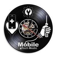 Périphériques intelligents Fix Service Wall Art Sign signe Téléphone mobile Réparation Mur Horloge Horloge Mobile Technologie Médecine Vinyle Enregistrer Clock Horloge LJ201211