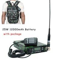 WAINIE TAMPIE Abbree 25W 듀얼 밴드 배낭 모바일 라디오 방송국 VHF UHF 휴대용 차량 12000mAh 배터리 + 안테나 프로그래밍 케이블