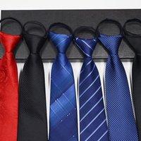 الرجال سستة التعادل قبل ربط الرقبة قابل للتعديل نحيل كسول التعادل الأعمال العنق ضئيل العريس حزب اللباس الزفاف ربطة العنق قدم 1