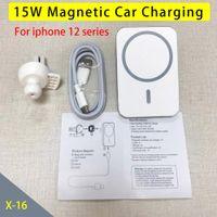 Aimant de chargeur de voiture sans fil magnétique 15W pour téléphone 12 mini 12 pro Max en tant que porte-téléphone portable de voiture Chargement rapide