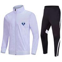 Hellas Verona F.C Top Running Men 's Tracksuit 재킷 및 바지 훈련 정장 야외 운동복 조깅 착용 성인 어린이 축구 세트