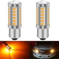 Аварийные огни 2 шт. 1156 BAU15S PY21W 7507 Светодиодные лампы для автомобилей поворот сигнал янтарь / оранжевый освещение белый красный синий 5630 5730 33smd1