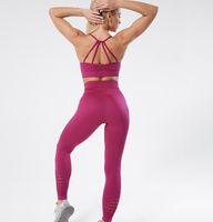 Femmes Designer Survêtements Fitness pant nouveau soutien-gorge se vêtir salle de vêtements sportwear yoga 2Pcs gymshark leggings flamme dame denim mode pour la femme