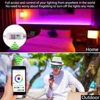 5M RGB 5050 wasserdichte LED-Streifenlicht SMD 44 Schlüsselfern Wifi drahtlose Licht Flexible Beleuchtung kostenfrei