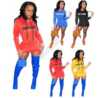 LABEL LUCKY femmes Sweat à capuche Robe d'hiver Robes overs Sweat Tops Sports de plein air Robes simples Total avec poches D102605