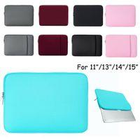 """Laptop-Ärmel-Hüllen 13 Zoll 12 """"15-Zoll für MacBook Air Pro-Netzhautanzeige 12.9"""" iPad Soft Case Cover Bag Fit Apple Samsung Notebook"""