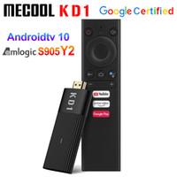 Mecool KD1 Google 인증서 TV 박스 Amlogic S905Y2 쿼드 코어 미니 TVStick 2GB 16GB 안드로이드 10.0 ATV 2.4G 5G WIFI BT4.2 세트 TopBox