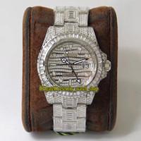 TWF ترقية الإصدار 116769 116759 Diamonds Dials GMT ETA A2824 التلقائي رجالي ووتش 904L الصلب الماس مثلج كامل حالة المعجلات الساعات 126710