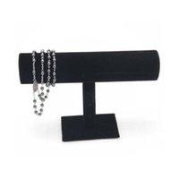 Expedição Black Velvet Expositores Moda Jóias Exibir suporte de suporte para braceletes Bangle Relógio Correntes Pendurado T Rack de Bar Fl3fj