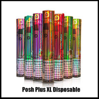 새로운 POSH 플러스 XL 일회용 장치 포드 키트 6ml 카트리지 1500puffs vape 빈 펜 대 퍼프 bang xxl plus