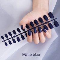 Unhas falsas 24 pcs Destacável fosco fosco dicas de unhas falsas para prego extensão manicure pressione em unhas falsas falsas