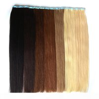Bant Saç Uzantıları Çift Yan Bant içinde Remy İnsan Saç Uzantıları 40 ADET 100g Paket Cilt Atkı Dikişsiz Saç Uzantıları 27 Renk Toptan