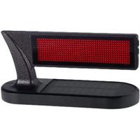 Solar LED Numéro de voiture intelligent Plaque Bluetooth Parking temporaire Portable Portable Panneau d'affichage à LED multifonctionnel