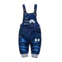 Denim pour enfants Combinaisons bébé jeans pantalons bébé garçons filles pantalons bébé vêtements bébé enfant bébé pantalons petits enfants 1-3 ans lj201127