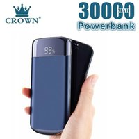 Power Bank 30000mah 2 USB External Battery Led Powerbank Portable Mobile Phone Charger for Smart Phone Free Shipping