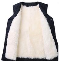 100% chaleco de lana piel de hombre integrada en otoño e invierno más chaleco de algodón hombro1
