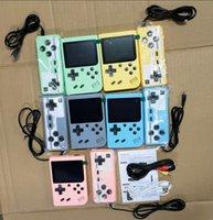 탑 휴대용 비디오 게임 플레이어 미니 게임 콘솔 복식 핸드 헬드 게임 상자 3.0 인치 컬러 LCD AV-Out 500 클래식 레트로 게임 아이들을위한 선물