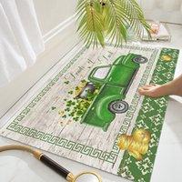 Neue St. Patrick Tag Bodenmatten Haushalt Toilette Badezimmer Rutschfeste Matte Absorbierende Fußmatte EEF4934