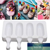 Feiqiong горячий продавать мороженое мороженое силиконовые нетоксичные ледяные плесень домохозяйство инструменты для производства 10шт деревянные стержня мороженое