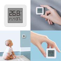 ABS LCD الرطوبة متر الأزرق الأسنان الاستخبارات المنزلية بابيس رقم الغرفة عرض رطوبة درجة حرارة أبيض متر مربع 15xf m2