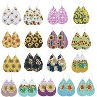 Orecchini in pelle di girasole Drop Dangle Orecchini 2020 Fashion Stud Orecchino Donne Gioielli Gioielli Ear Borchie fiore regalo ornamenti 3SP F2B