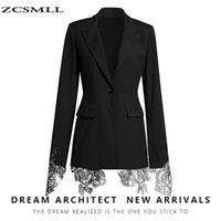 Blazers Black Suit Femenino 2021 Otoño Nuevo Negro Negro Fried Street Traje Máquina Bordado Bordado Costura Cintura Cintura Abrazo Cuadrado Abrigo