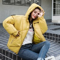 Hot Sale Korean Style Solid Winter Bubble Jacket For Women P...
