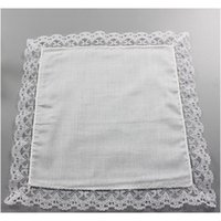 25 cm de dentelle blanche mince mouchoir 100% coton serviette femme cadeau cadeau de mariage décoration serviette bricolage bricolage blanc h jllnwv bdebag