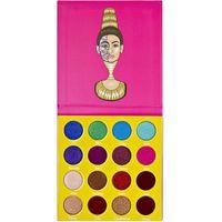 16 Color Backstage Maquillaje de ojos Metálico Impermeable Mini Eyeshadow Paleta Paleta Mascarada Maquillaje para 24 g