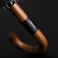 Parachase большой зонт деревянный ветрозащитный 16 ребер бизнес японская длинная ручка зонтик дождь женщины мужчины 120см гольф чистый зонт 201104
