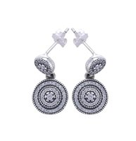 Panjewelry S925 Sterling Silver Summer new style inlaid roun...