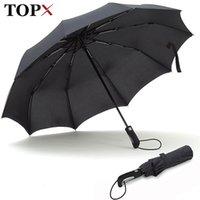 Topx New Big Forby Fashion Fashion Antivento Uomini delicato pieghevole Compatto Compact Completo Automatico Pioggia di alta qualità Ombrello Pongee Donna 201119