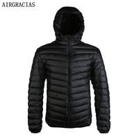 AirGracias New Llegan 90% Blanco Duck Jack Down Jacket Men Otoño Invierno Warm Coat Men's Light Futus Duck Down Chaqueta Abrigos 201130