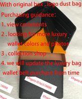 Top de alta calidad Wallet Paris Plaid Style Designer Mens Wallet Wallet Wallet de alta gama Monedero de animales Monedero de monedas con caja
