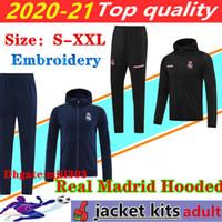 2020 2021 Real Madrid Men Cousssuit Футбол Куртка Chandal 20 21 Camiseta de Futbol Опасность бензема Футбол с капюшоном Куртки
