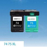 Cartouches d'encre JH 74XL 75XL Compatible pour 74 75 XL Cartouche J5780 D4260 C4480 4380 5280 4345 C4300 OfficeJet C42801