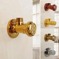 Rubinetti del lavandino del bagno G1 / 2 Treno Valvola del triangolo dell'oro dell'ottone dell'ottimo angolo di intaglio addensato Apertura rapida Valvole di riempimento di grandi dimensioni per la toilette