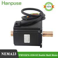 NEMA23 Motor de passo 4.0A 2.0n.m 57bygk76-1530-SZ motor duplo do eixo de cobre motor para a máquina de afiação da roda do worm CNC