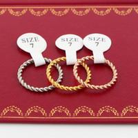 Koreanische Version des einfachen Knochen Knoten tail ring überzog 18k Roségold Mahua Joint Ring Frauen Schmuck kleinen Ring Großhandel