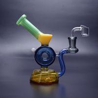 HBKING nuovo riciclatore tamponare rig vetro inebriante bong tubo di acqua olio colorato gorgogliatore rig mini design unico con banger