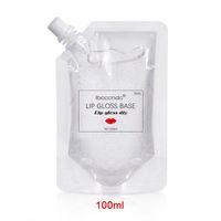 Dudak Gloss 100 ml Temizle Baz Yağı Nemlendirici Yapışmaz DIY Sopa Hammadde Jel Lipgloss Sıvı Ruj Için