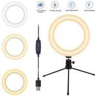 """Estados Unidos 8 """"Selfie Ring Light com TRIPOD Stand Dimable Desktop LED Circle Light para transmissão ao vivo / Makeup / YouTube"""