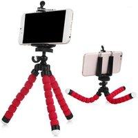 Mini Flexible Schwamm Krake Stativ mit Telefonclip Portable 360 Grad rotierendes Stativ für Smartphone Mobiltelefon Selfie Stand1