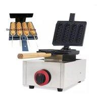 Ticari Waffle Köpek Makinesi Gaz Muffin SICAK Köpek Waffle Makinesi Fransız Muffin Sopa Sıcak Makinesi Paslanmaz Çelik1